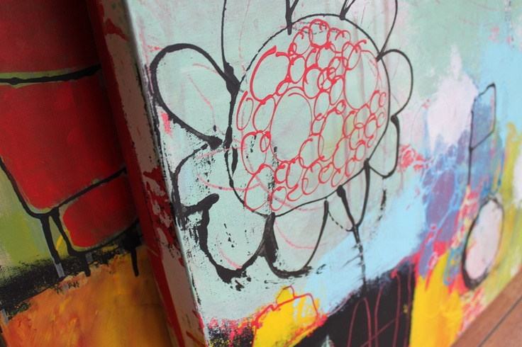 Maleri... se mange flere billeder og farvestrålende penselstrøg på min hjemmeside - Handmade by LS  www.lisbeth-s.dk