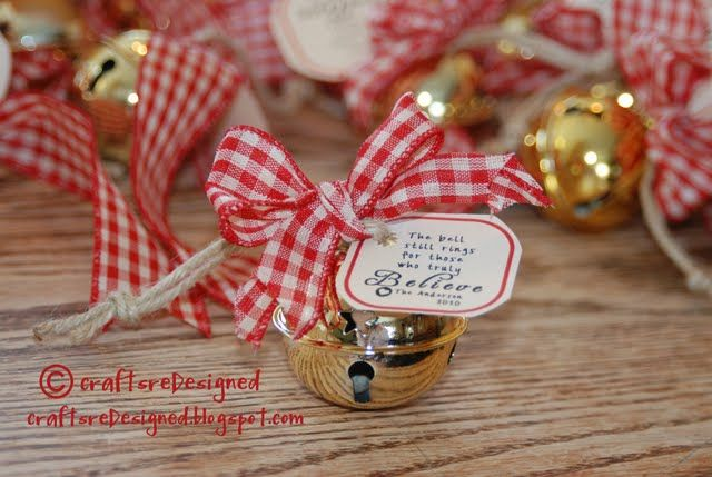 """""""Believe"""" bell ornaments--too cool. Polar Express day."""