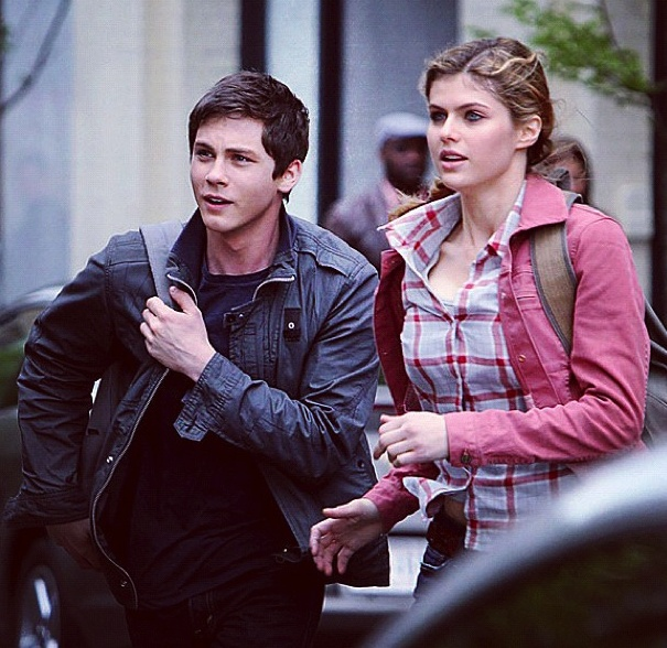 Percy and Annabeth! I can't get over how much older he's looking in this movie! Gorgeous!