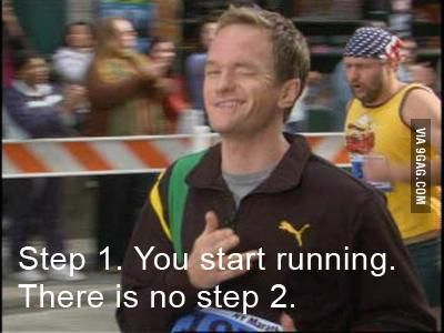 How to run a marathon - Barney Stinson