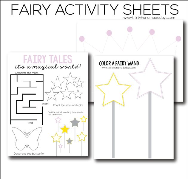 fairy tale preschool printable worksheets