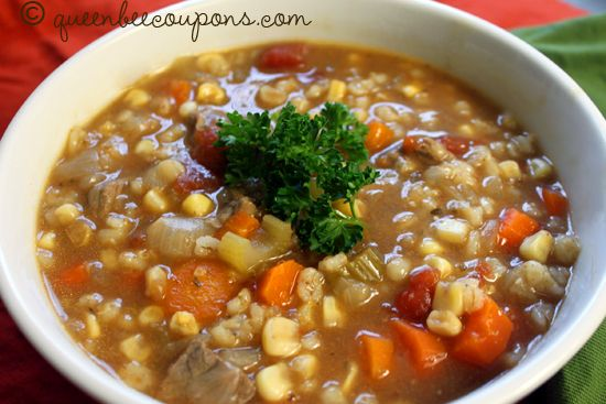 Slow Cooker Beef and Barley Soup recipe | Soup | Pinterest