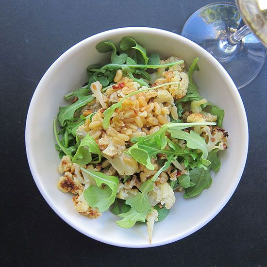 Sweet-and-Smoky Wheat Berry Salad with Jurançon on Food & Wine