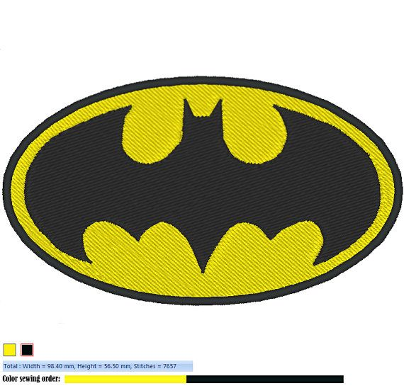 BATMAN LOGO machine embroidery design instant by JLdizains on Etsy, $1 ...
