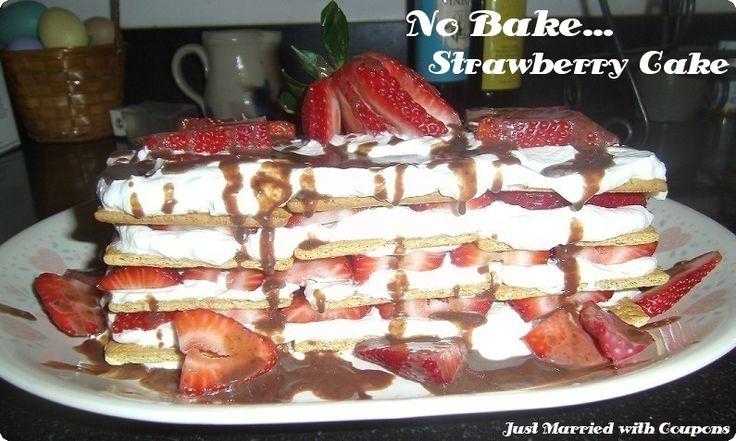 No Bake Strawberry IceBox Cake Recipe | Dessert Recipes | Pinterest