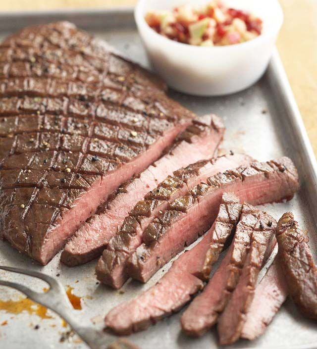 Balsamic Glazed Flank Steak with Fall Fruit Salsa from the Better ...