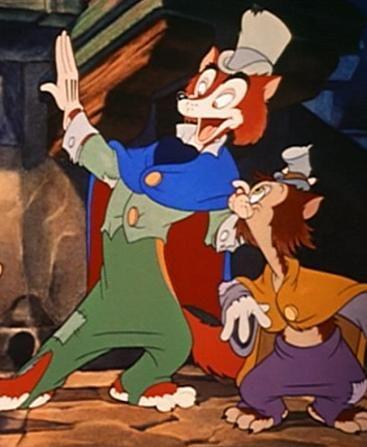 Honest John and Gideon  Pinocchio Honest John And Gideon