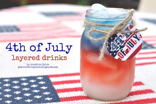 Red, White and Blue Layered drinks and 9 other Awesome July 4th Food Ideas #recipes #redwhiteblue #fireworks #drink #party