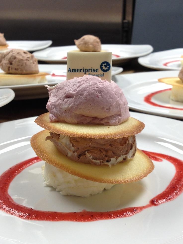 Mousse Trio Napoleon Milk Chocolate, White Chocolate, Raspberry Mousse ...