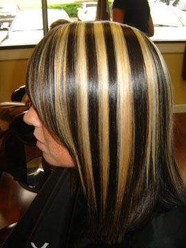 brown hair with chunky highlights | stuff I like | Pinterest