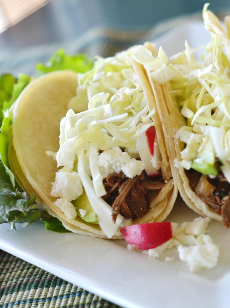 Slow-Cooker Shredded Beef Tacos | Love & Eat | Pinterest