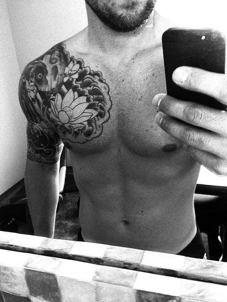 chest piece half sleeve tattoo tattoos pinterest. Black Bedroom Furniture Sets. Home Design Ideas