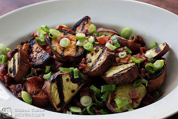 Grilled Sweet Potato & Bacon Salad | Kumara | Recipe