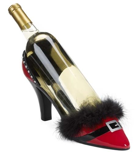 High Heel Shoe Bottle Holder - Santa's got style!