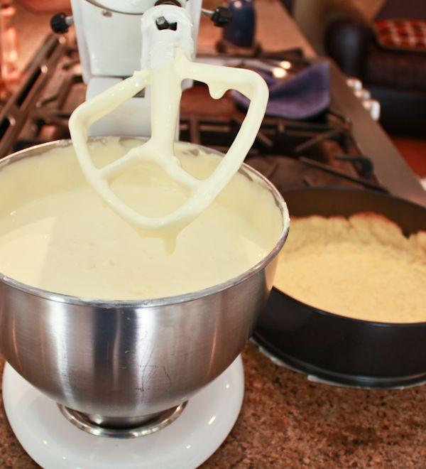 Yogurt Cheesecake with Orange Shortbread Crust and Chambord Honey Dri ...