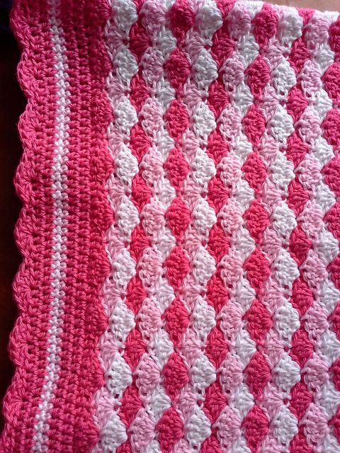 Shells Of Love Crochet Baby Blanket Pattern : Baby Blanket Shells of Love pattern by Darleen Hopkins