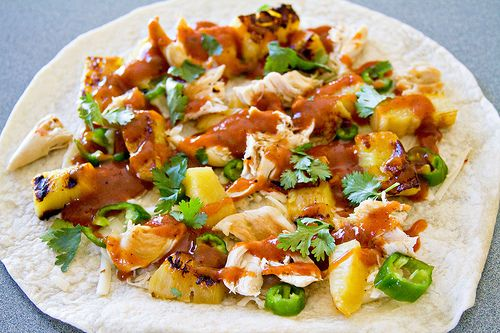 BBQ Chicken and Pineapple Quesadillas | I may have to start cooking/b ...