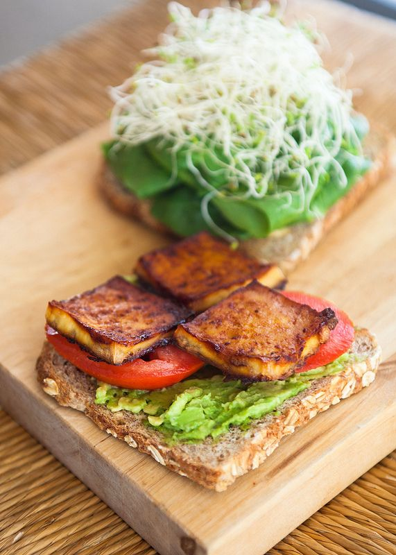BBQ Baked Tofu + Avocado Sandwich - Feisty Fresh Eats!