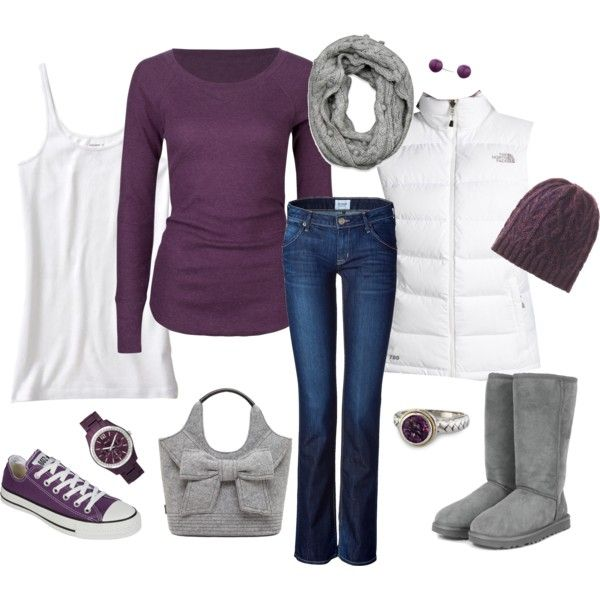 purple, grey & white...