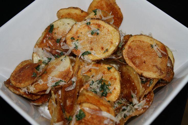 Homemade Parmesan Potato Chips Recipe — Dishmaps