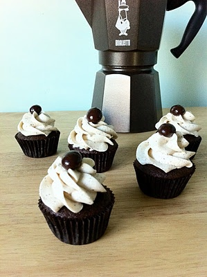Chocolate Espresso Cupcakes. Note: Be sure not to overfill the tins ...