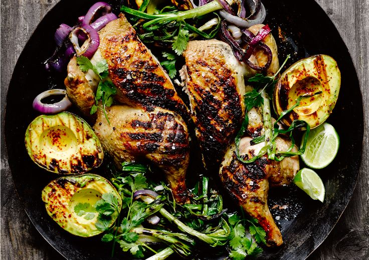 Chicken Under A Brick With Avocados And Chiles Recipes — Dishmaps