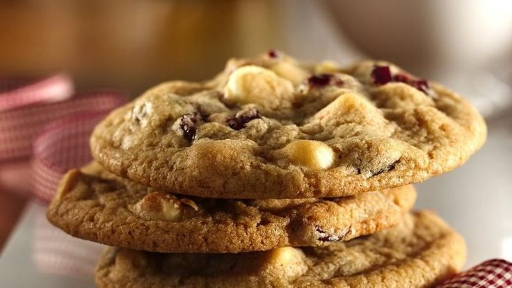 Cranberry White Chocolate Chip Cookies!
