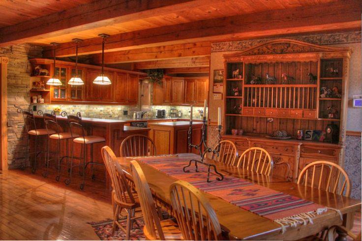 Log Home Love Log Homes Beautiful Kitchens And Waterfalls Pinte