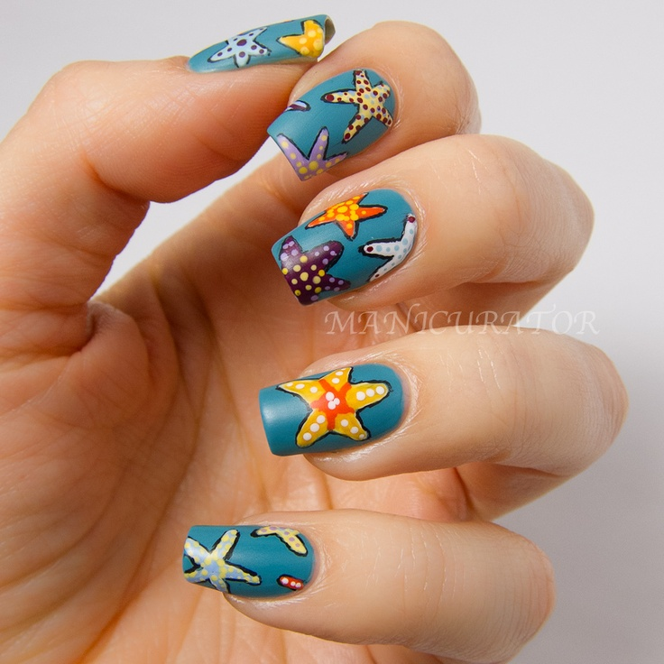 manicurator: Starfish Nail Art | Summer Holidays Nail Art ...
