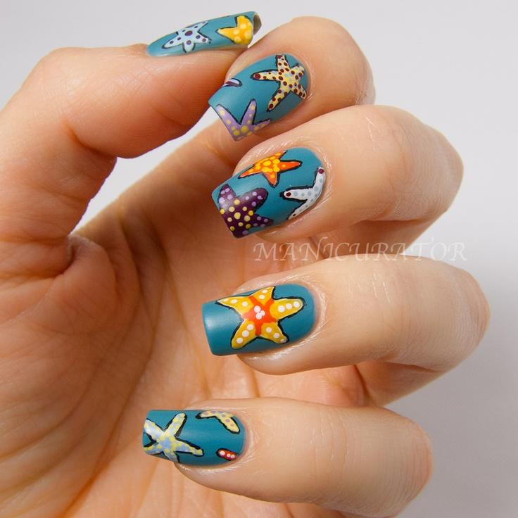 manicurator: Starfish Nail Art | Summer Holidays Nail Art ...