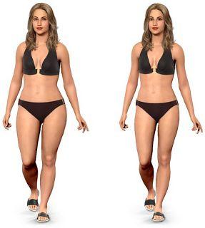 Simulador: Saiba como fica o seu corpo com mais e menos peso | As Dicas da Ba