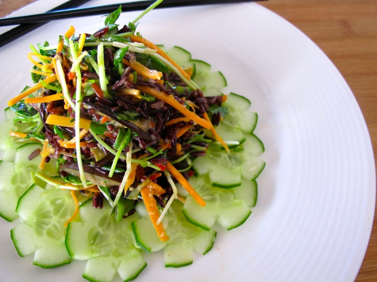 "Thai Inspired ""Forbidden"" black rice super salad... | Raggedy Shan ..."