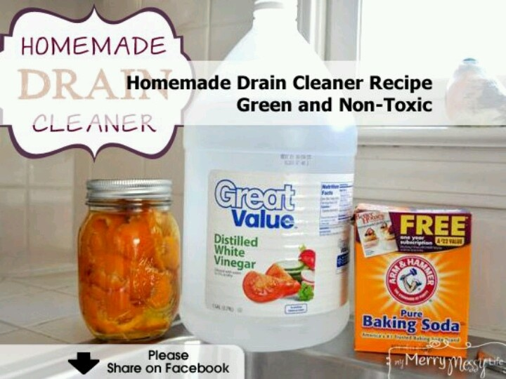 Homemade Drain Cleaner Non Toxic Cleaning Pinterest