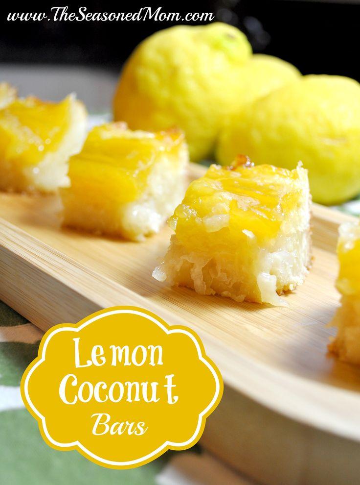 Lemon Coconut Bars on MyRecipeMagic.com -- the perfect easy, spring ...