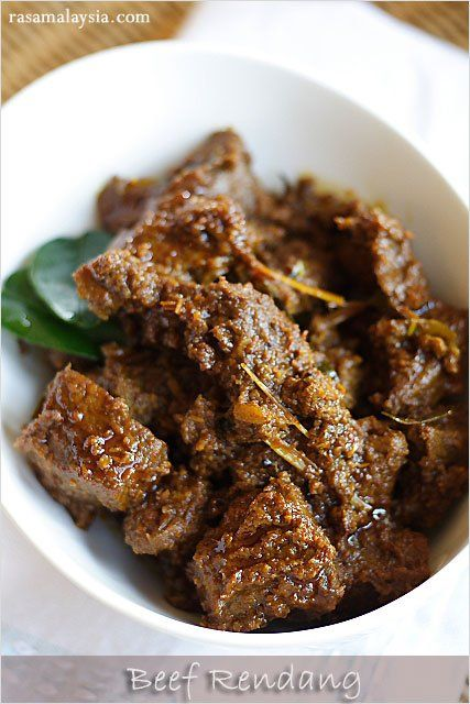 Beef Rendang (Rendang Daging), a rich beef stew popular in Malaysia ...