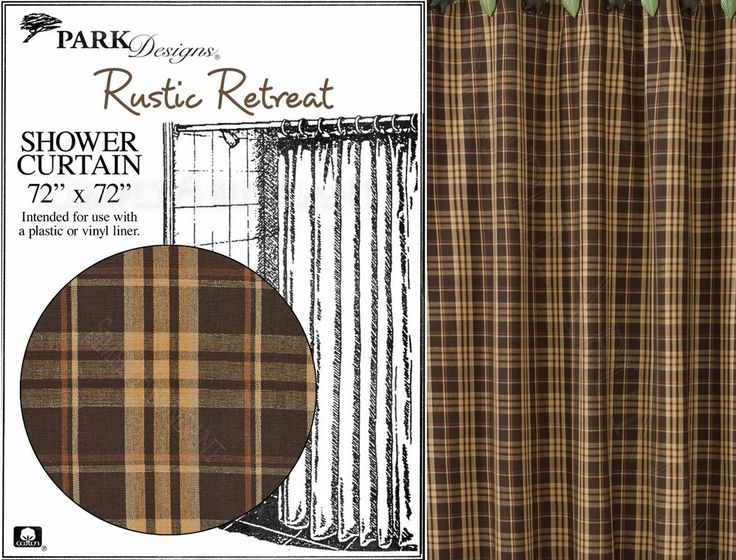 Curtains Ideas rustic curtain : Rustic Retreat Shower Curtain by Park Designs, 72x72, Tan, Brown & Or ...