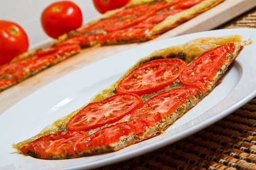 Tomato and Basil Pesto Parmesan Tart | Recipe