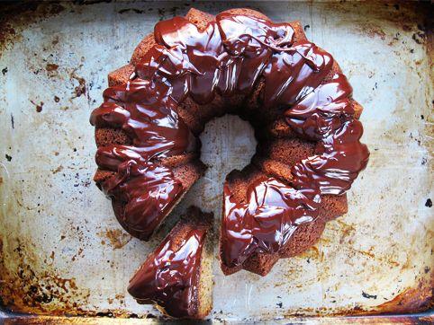 Dorie Greenspan's Classic Banana Bundt Cake (with Chocolate Ganache)