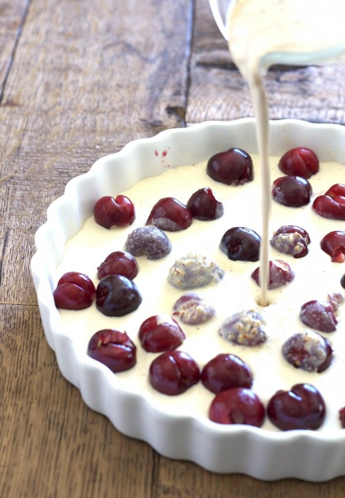 ... Clafoutis is, but it sure looks good.....Cherry clafoutis. Use