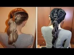 Ponytail Hairstyles with Braids and Steps