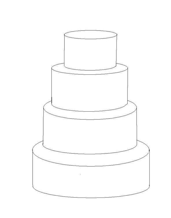 Tiered Cake Design Template : 4 tier cake template Cake decorating tips Pinterest