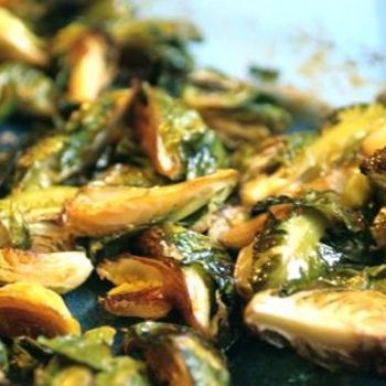 """Uchiko"""" Roasted Brussel Sprouts with Thai Sweet Chili Sauce"""
