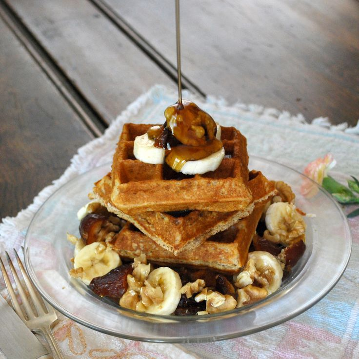 Gluten-Free Banana Date Nut Waffles! Healthy way to start the morning ...