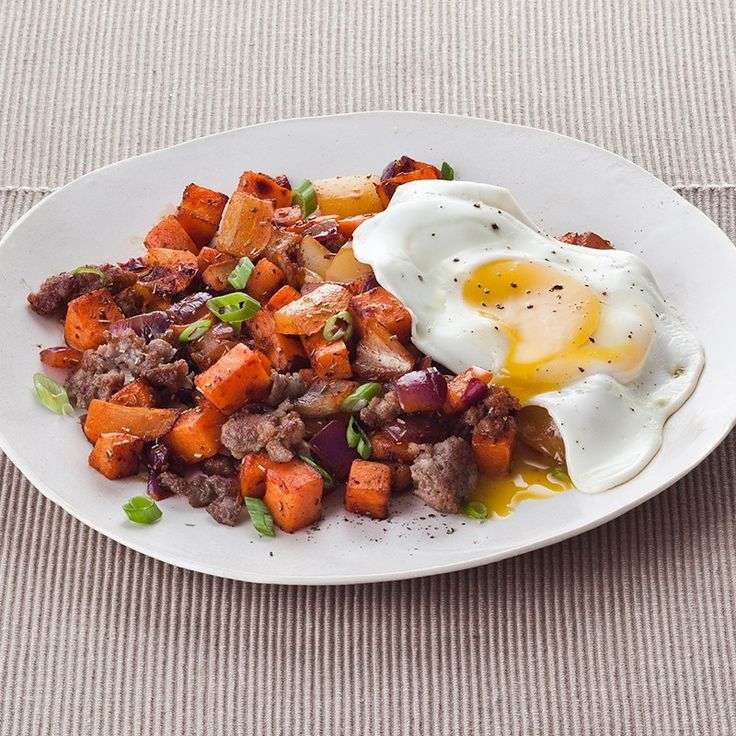 Sausage, Sweet Potato and Bell Pepper Hash | Recipe