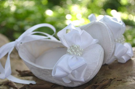White Toddler Shoes , Children shoes , Flower Girl shoes, Baby