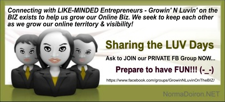 ➽ ➽ ➽ Growin' N Lovin' on the BIZ: Private FB Group for ANYONE wanting to take their Business to another level! Send me a message HERE : www.facebook.com/..., if this is YOU and you're in... ✔ No fee.