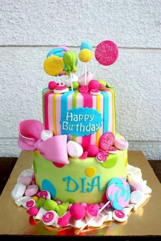Candy color land cake Cake Pinterest