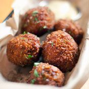 Jalapeno & Bacon Hush Puppies with Chipotle Dip | Recipe