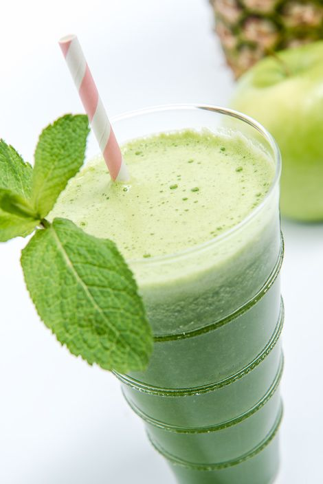 Kale, Pineapple and Mint Green Juice #WhatWouldYouJuice? Visit http ...