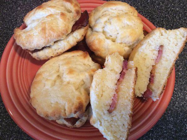 bacon stuffed buttermilk biscuits | kissmyglutenfreebuns | Pinterest